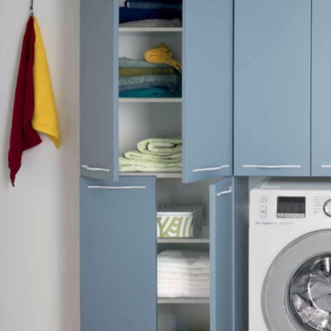 LAVANDERIA lavare stanza arredamento mobili lavatrice su misura ferrara maison crea vigarano